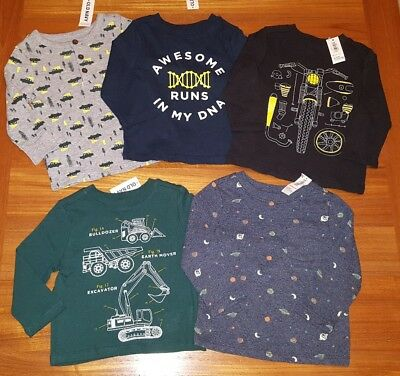 Old Navy Boys 12-18 MONTH Long Sleeve Shirt 5 PIECE Clothing Lot TOPS #708-66-18