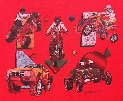 Vintage 1987 Motorsport T Shirt Motocross Dirt-bike ATV Motorcycle 80s
