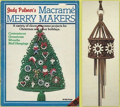 """Vintage 1981 Macrame Pattern Book """"macrame Merry Makers"""" 18 Projects"""