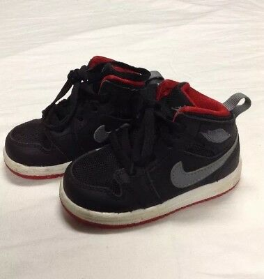 6c3bd0de652 NIKE JORDAN TODDLER TD baby shoes Retro 6 Ring phase mid flex Black ...