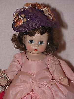 "Vintage 8"" Strung Bent Knee Madame Alexander Doll-ALEX In Pink Gown"
