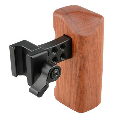 CAMVATE DSLR Wood Wooden Handle Grip Right For DSLR Camera DV Video Cage Rig