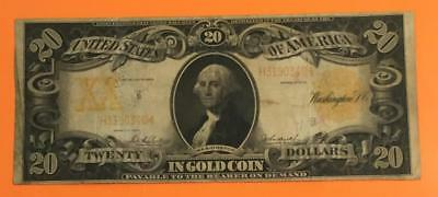 "1906 $20 US ""GOLD Certificate ""LARGE SIZE"" Currency VG! Old US Paper Currency"
