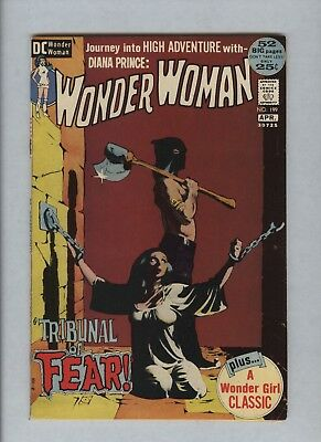Wonder Woman #199 (1942 DC) VF 8.0 Classic Jeff Jones Horror Cover Bondage