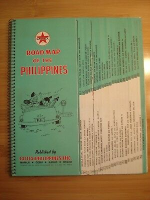1957 CALTEX Map of Philippines Roadmap of the Philippines published in Manila