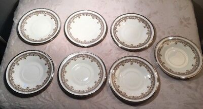 """A SET OF 7 LENOX LACE POINT 6""""  SAUCERS Good Condition"""