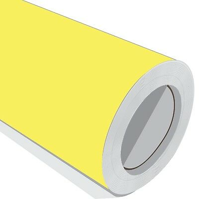 1 Metre Vinyl Roll HD Yellow Matt Sticky Back Sign Wrap Sticker Pro Grade 10 Yr