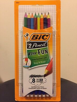 BIC Xtra-Fun #2 Pencil, Break-Resistant Lead, Certified Non-Toxic (8 Pack)