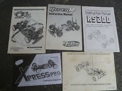 Variety of Touring and F1 Car Instruction Manuals