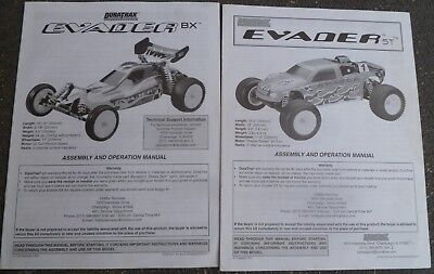 Duratrax Manuals - Evader ST Truck and Evader BX Buggy