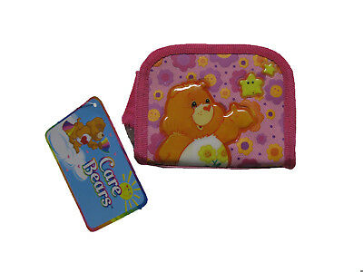 "Care Bears PINK Coin Purse 3.5"" x 4.5"" BRAND NEW WITH TAGS"