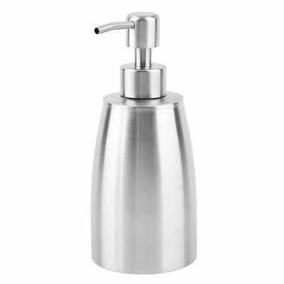 Stainless steel Liquid Pump Soap Lotion Dispenser Hand Sanitizer Bottle LU