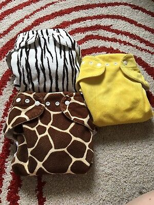 3 EUC Baby Beehinds Magic Alls Modern Cloth Nappy All In One Nappies