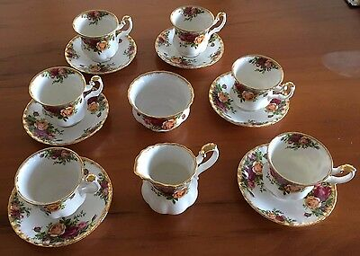 14 piece Royal Doulton Coffee Set - Country Roses