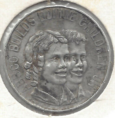 Australian ABBCO Bread Making Advertising Alum 29 mm approx Medal by AMOR