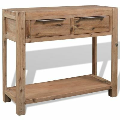 vidaXL Solid Acacia Wood Console Table 82x33x73 cm with Drawers Hall Furniture