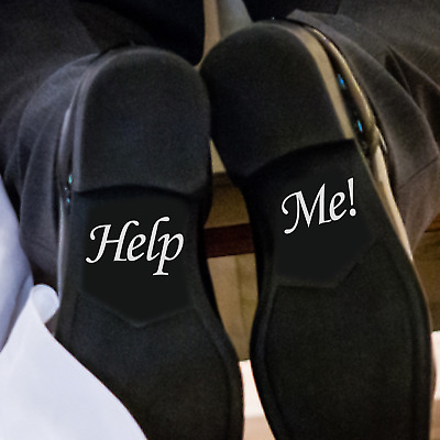 """HELP ME"" - Shoe decals 