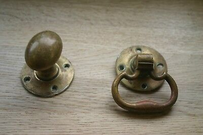 A pair of  Old vintage/Victorian antique solid Brass door knobs