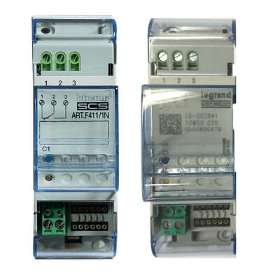 BTICINO F411/1N SCS Actuator 1 Relay 2 DIN MODULE MY HOME 003841