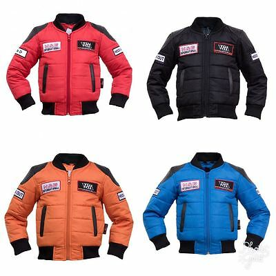 Children Motorcycle Biker Jacket Racing Windproof Patch World Cup Fashion