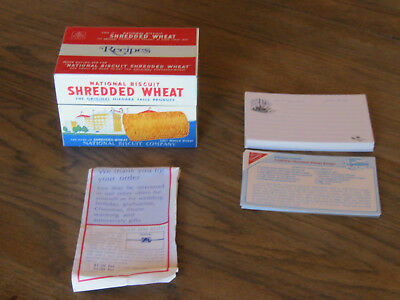 National Biscuit  Shredded Wheat  Recipe Box  W/ Cards & Order Form  1973