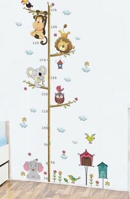 🦒 Animal Cute Kids Height Growth Chart Children Room Decor Wall Height Measure