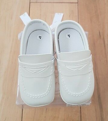Baby Boys Ivory/cream Christening Baptism Page Boy Shoes New Couche Tot Size 4