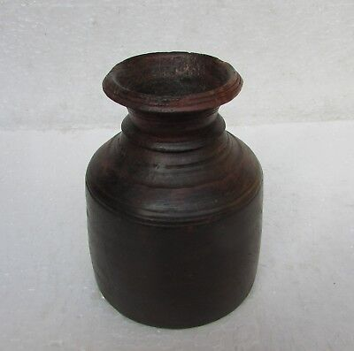 Vintage Old Collectible Handcrafted Unique Shape  Wooden Flower Pot,