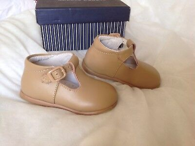 Camel Boys Spanish T Bar Boots Size 21 Worn Once In Box Shoes