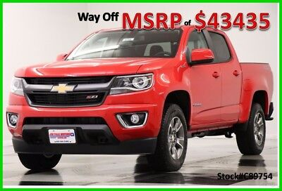 2018 Chevrolet Colorado MSRP$43435 4X4 Z71 Diesel Leather GPS Red Crew 4WD New Heated Black Seats Navigation Camera Duramax 17 2017 18 Cab Bluetooth USB