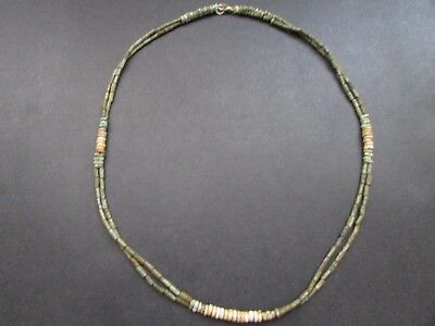 NILE  Ancient Egyptian Double Strand Amulet Mummy Bead Necklace ca 600 BC