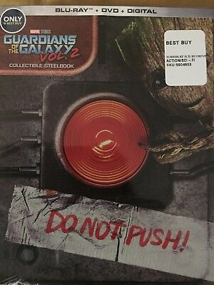 Guardians of the Galaxy Vol 2 Collectible Steelbook Blu-Ray with Free Magnet