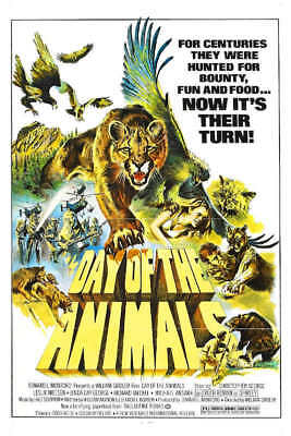 1977 DAY OF THE ANIMALS VINTAGE HORROR MOVIE POSTER PRINT 24x16