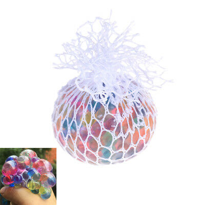 Anti Stress Reliever Rainbow Grape Ball Squishy Phone Straps Funny Toys Gift TH