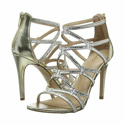 Aldo Liah Size 3 4 Gold Diamante High Heel Bridal Special Occasion Sandals Shoes