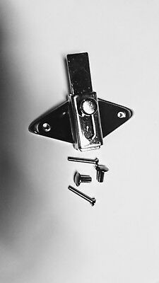Chrome Partition Stall Latch for Restroom Bathroom Door with Mounting Hardware