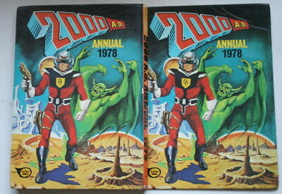 2000 Ad 1978 Annual Unclipped Exc Cond Fleetway Uk First Press Judge Dredd