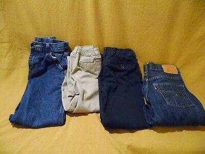 4 Boys Pants, 1 Dress,tan--3 Blue Jeans-Various Sizes-Clean-Euc-Mom,look Here!