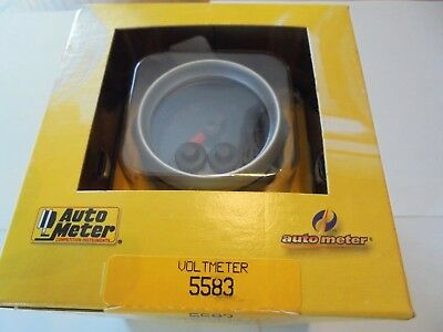 Autometer Volt Gauge # 5583-Racing-Arca-Drag-Asphalt-Mud-Trucks-New!!!