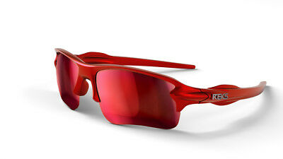 New REKS Unbreakable Sling Blade Polarized Sunglasses Red Mirror Anti Reflective