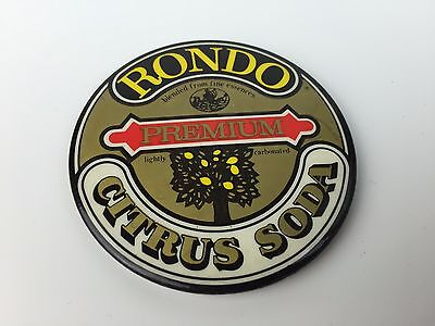 Vintage Rondo Citrus Soda Button Pin Rare The Thirst Crusher