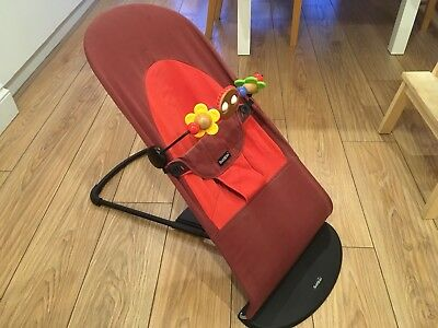 BabyBjorn Baby Bouncer Soft Seat Rocker Chair (Red / Orange)
