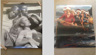 """2 Abercrombie  & Fitch Store Display Rare Canvas Posters both  44"""" x 51"""""""