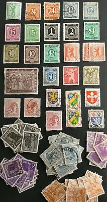 GERMANY ZONES COLLECTION NICE LOT INCL STUDY 5  SCANS 99c NO RESERVE