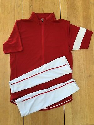 Rapha Classic Jersey, Red, Extra Large with arm warmers. Great Condition.