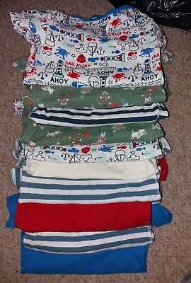 10 x boys short sleeved vests 18-24 months