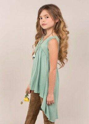 New Joyfolie Girls' Izzy Top in Jade Girls 4 Youth and 2T