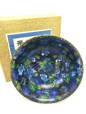 Chinese 1970s Cloisonne Bowl With Original Box
