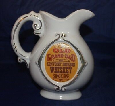 Old Grand-Dad Kentucky Bourbon Whiskey Liquor Bar Water Pitcher