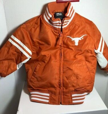 Texas Longhorn Jacket for Toddler 2T Team Starter lined embroidered